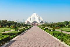 Lotusblommatempel, Indien Arkivbild