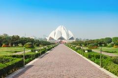 Lotusblommatempel, Indien Arkivfoton