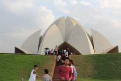Lotusblommatempel, Indien Royaltyfri Foto