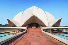 Lotusblommatempel, Indien Arkivbilder
