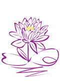Lotus purple flower logo Royalty Free Stock Photo
