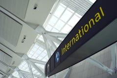 lotów międzynarodowych Zdjęcia Stock