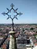 Louça de Delft Markt imagem de stock royalty free