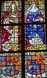 Louça de Delft nova Holland Netherlands da catedral do rei Willian Queen Mary Stained Glass fotos de stock royalty free