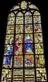 Louça de Delft nova Países Baixos da catedral do rei Willian Queen Mary Stained Glass imagem de stock