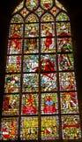 Louça de Delft Países Baixos do rei William Stained Glass New Cathedral Kerk fotografia de stock