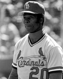 Lou Brock, St. Louis Cardinals. St. Louis Cardinals legend Lou Brock. (Image taken from B&W negative royalty free stock photography