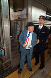 Lou Costello at Troop Train Royalty Free Stock Image
