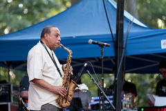 Lou Donaldson at the Charlie Parker Jazz Festival in Manhattan Stock Photo