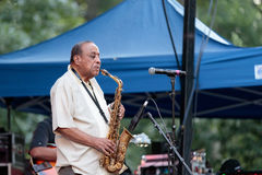 Lou Donaldson at the Charlie Parker Jazz Festival in Manhattan Royalty Free Stock Images