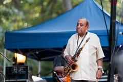 Lou Donaldson em Charlie Parker Jazz Festival em Manhattan Foto de Stock