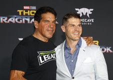 Lou Ferrigno and Louis Ferrigno Jr. Royalty Free Stock Photography
