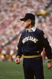 Lou Holtz. Notre Dame Fighting Irish head coach, Lou Holtz. (Image taken from color slide royalty free stock images