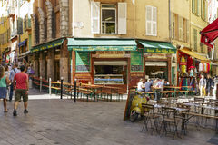 Lou Pilha Leva Restaurant, Nice, France Stock Images