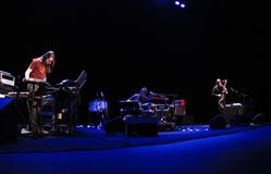 Lou Reed Metal machine trio playing live in mallorca Royalty Free Stock Photos