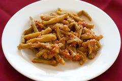 Loubiah Bzeit, Libanees voedsel. Stock Foto