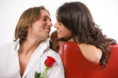 Louca no amor Imagens de Stock Royalty Free
