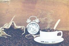 Louco no amor com café Fotografia de Stock
