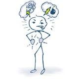 Louco, raiva e figura irritada da vara Imagem de Stock Royalty Free