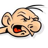 Loud. Angry cartoon man is yelling Stock Photo