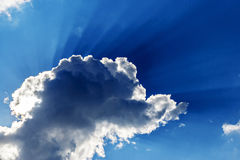 Сloud covers the sun in the sky Royalty Free Stock Photography