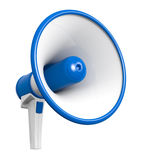 Loud hailer. One loudhailer in blue and white colors (3d render Stock Photography