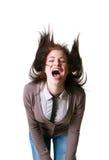 Loud happy shout Stock Photo
