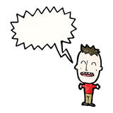 Loud little boy cartoon Stock Photos