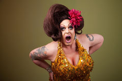 Loud Mouth Drag Queen Stock Photo