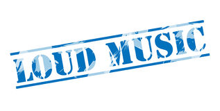 Loud music blue stamp stamp Stock Photography