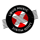 Loud Music rubber stamp Royalty Free Stock Image