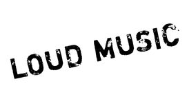Loud Music rubber stamp Stock Photography