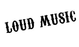 Loud Music rubber stamp Royalty Free Stock Images