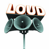 Loud. Music, voice, concern or prominent approach to make an issue or subject visible Stock Photography
