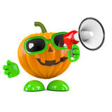 Loud pumpkin Stock Photography