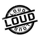 Loud rubber stamp Royalty Free Stock Images