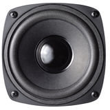 Loud Speaker. Black loud speaker with clipping path isolated over white background Stock Image