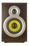Loud speaker. A voice column (loud speaker) is in a dark wooden corps Stock Image
