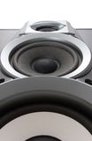 Loud speaker bottom view Stock Photo