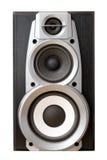 Loud speaker front view stock photos