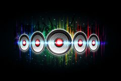 Loud Speaker on Musical Background Royalty Free Stock Images