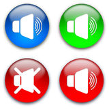 Loud speaker mute buttons royalty free stock images