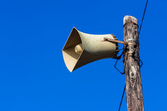 Loud-Speaker Pole Public Blue Royalty Free Stock Photo