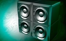 Loud speaker set Royalty Free Stock Photo
