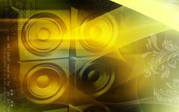 Loud speaker set Stock Photos