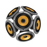 Loud speakers forming sphere Royalty Free Stock Photography