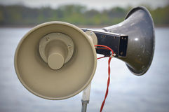 Loud Speakers by Lake royalty free stock images
