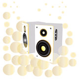 Loud speakers, sound, dj staffs Royalty Free Stock Images