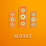 Loud speakers with stylish text. Royalty Free Stock Photo