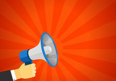 Loud voice of the speaker vector illustration. Discount Royalty Free Stock Image